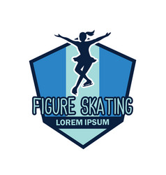 Speed skating logo with text space for your slogan vector