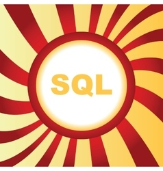 SQL abstract icon vector image
