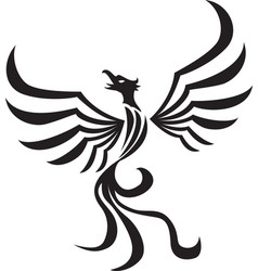 stylized phoenix tattoo vector image