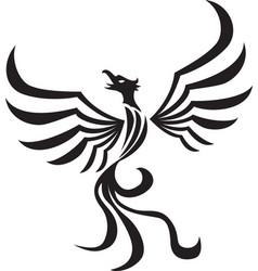 Stylized phoenix tattoo vector
