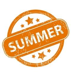 Summer grunge icon vector