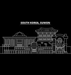 Suwon silhouette skyline south korea - suwon vector