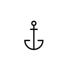 Thin line anchor icon vector