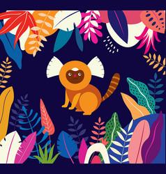 tropical monkey vector image