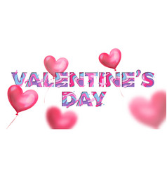 valentines day papercut text design for valentine vector image