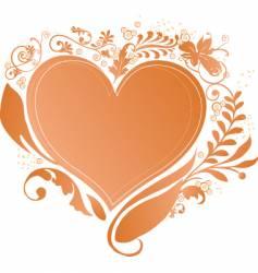 Valentines heart frame vector