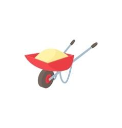 Wheelbarrow icon in cartoon style vector image