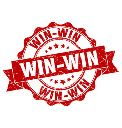 Win-win stamp sign seal vector