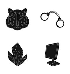 Zoo mining and or web icon in black style vector