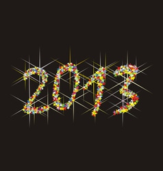 2013 A happy New Year vector image