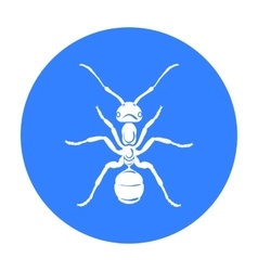 Ant icon in black style isolated on white vector image