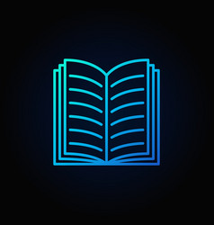 blue open book icon vector image vector image