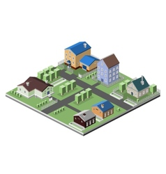 Residential house buildings vector image