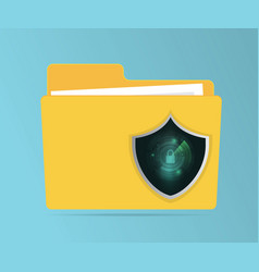 abstract network security concept folder vector image vector image
