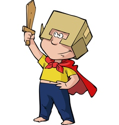 Boy knight vector image
