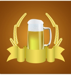 beer and wheat vector image vector image