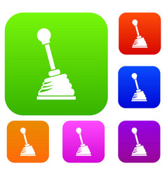 Gear stick set collection vector