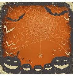 halloween background grunge frame vector image