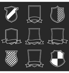 Heraldic Shield Emblem Set vector image