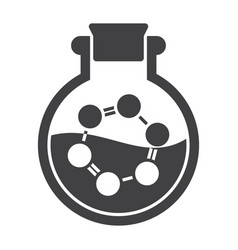 laboratory flask with molecule vector image vector image