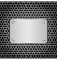 metal label grid background vector image vector image