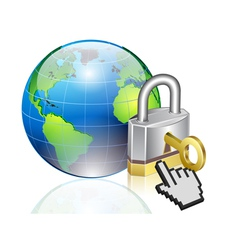 world lock vector image
