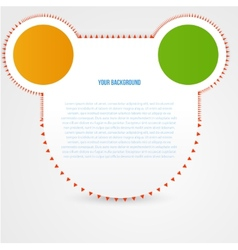 abstract circles template Object design vector image vector image