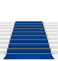 Blue carpet vector image vector image