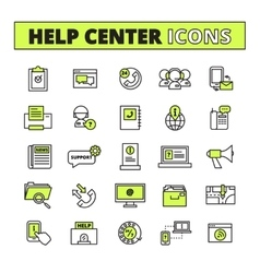 Call Center Icons Set vector image vector image