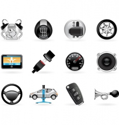 car options vector image vector image