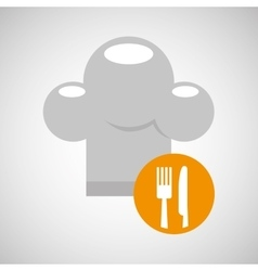 delivery food chef hat fork knife vector image