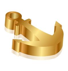 golden anchor vector image vector image