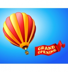 grand opening vector image vector image
