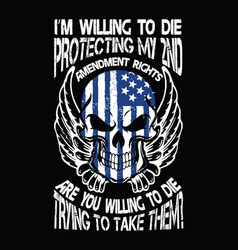 2nd amendment t-shirt design vector