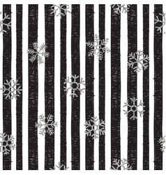 abstract pattern falling snowflakes vector image