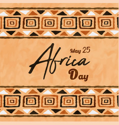 Africa liberation day ethnic tribal art card vector