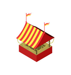 Amusement park tent isometric 3d element vector