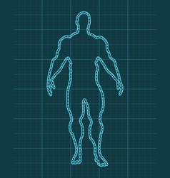 athlete silhouette vector image