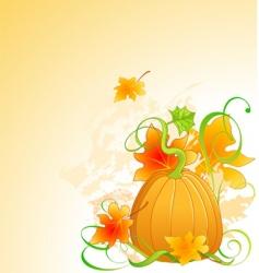 autumn pumpkin vector image