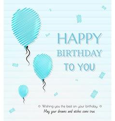 balloon and happy birthday vector image