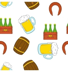 Barley drink pattern cartoon style vector