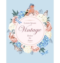 Beautiful vintage card with bird vector