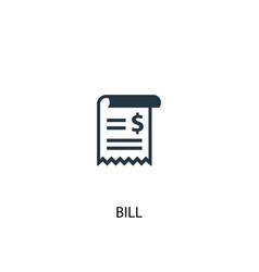 bill icon simple element bill vector image