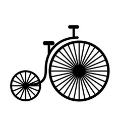 black icon vintage bicycle cartoon vector image