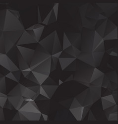 black polygonal which consist of triangles vector image