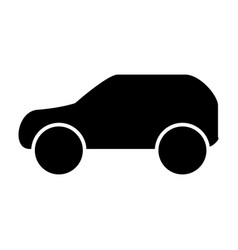 car solid icon automobile vector image