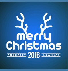 christmas greetings card with dark background vector image
