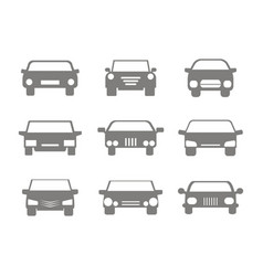 color icons set with cars vector image