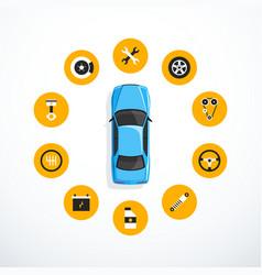 Concept of car service vector