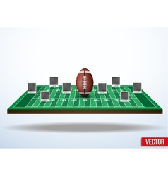 Concept participants playing american football vector